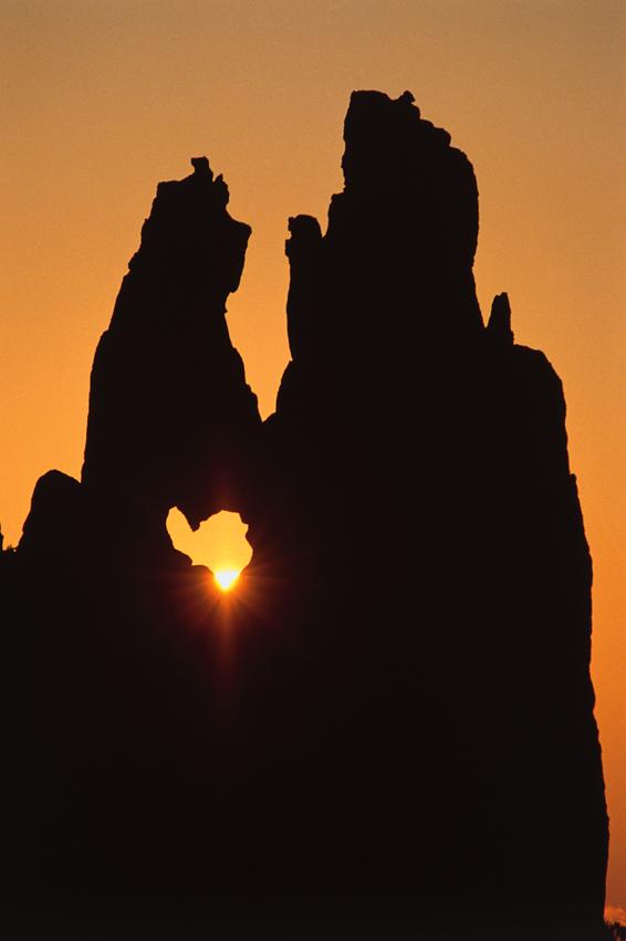 Le coeur des Calanche par soleil couchant.
