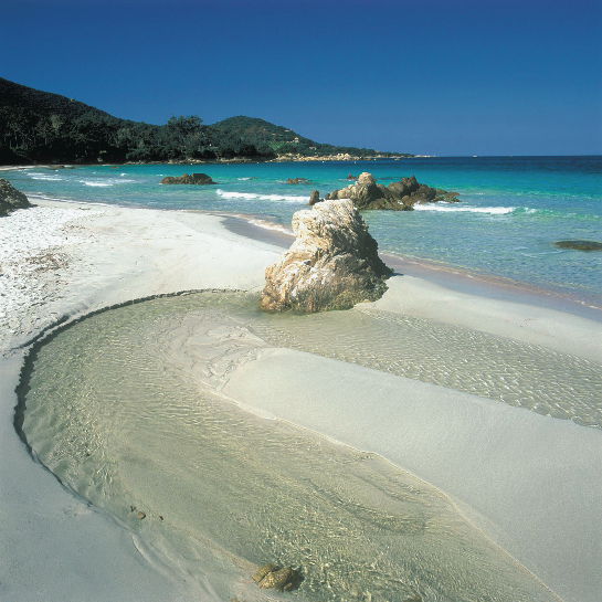 Rive sud du grand Golfe d'Ajaccio.