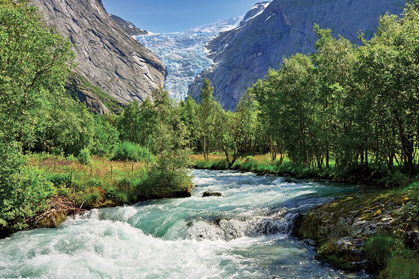 (Image) image Norvege vue glacier Briksdalsbreen  it