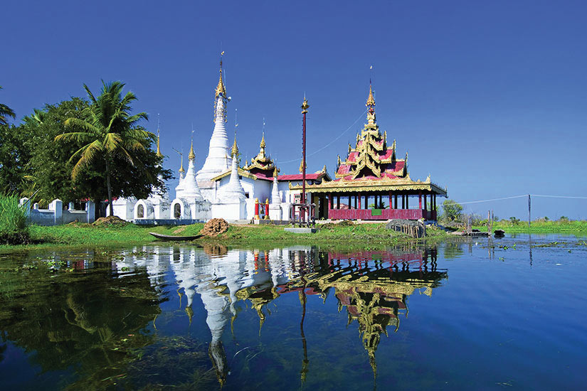 (Image) image Myanmar Lac Inle Pagodes monastere bouddhiste  fo