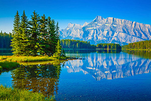 (vignette) Vignette Canada Parc National Banff Lac Two Jack  it